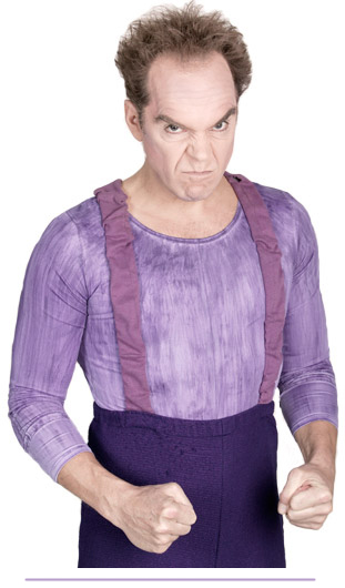 Photo de Mario Diamond en personnage de Yoyo pas content.
