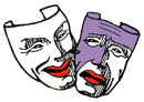 Logo de masque de théatre